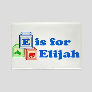 Baby Blocks Elijah Rectangle Magnet