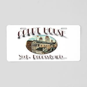 York Court House Aluminum License Plate