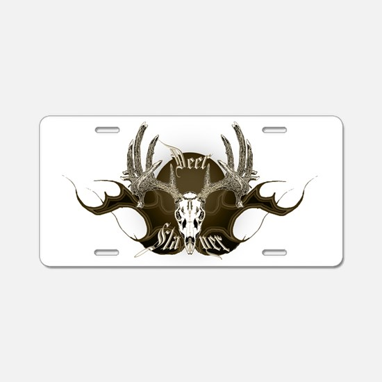 Deer Slayer Aluminum License Plate