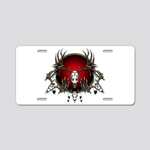 European Skull mounts Aluminum License Plate