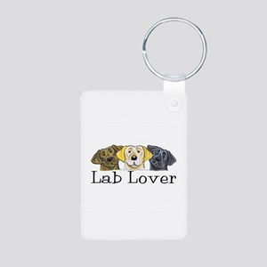 Lab Lover Trio Aluminum Photo Keychain