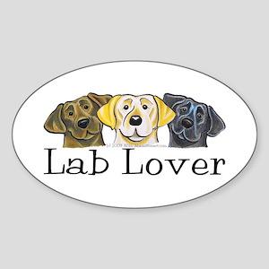 Lab Lover Oval Sticker