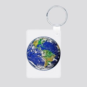 PeaceEarth Aluminum Photo Keychain