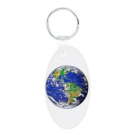 PeaceEarth Aluminum Oval Keychain
