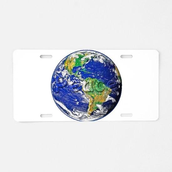 PeaceEarth Aluminum License Plate