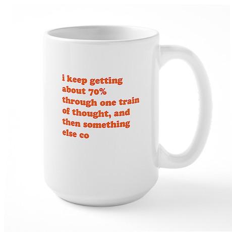 Train of Thought Large Mug