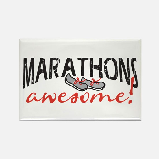 Marathons awesome! Rectangle Magnet (10 pack)