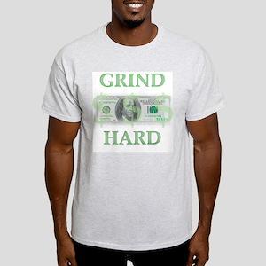 """Grind Hard"" Ash Grey T-Shirt"
