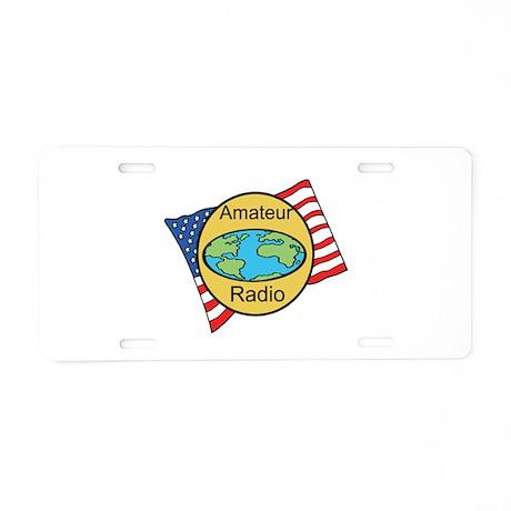 Amateur Radio Aluminum License Plate