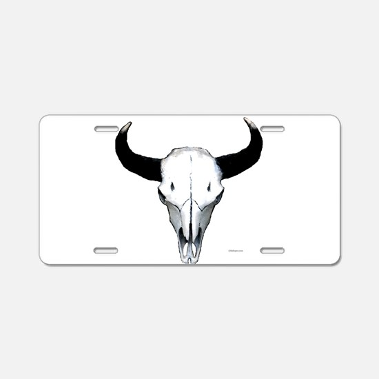Buffalo skull Aluminum License Plate