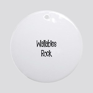 Wallabies Rock Ornament (Round)