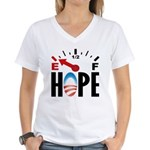 Anti Obama 2012 Women's V-Neck T-Shirt