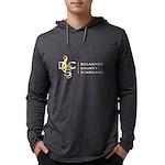 Mens Full Logo Hooded Shirt Long Sleeve T-Shirt