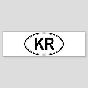 South Korea (KR) euro Bumper Sticker