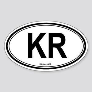 South Korea (KR) euro Oval Sticker