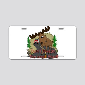 Moose humor Aluminum License Plate