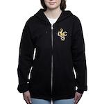 Womens Dcs Zip Dark Hoodie Sweatshirt