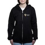 Womens Full Logo Dark Zip Hoodie Sweatshirt
