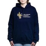 Womens Full Logo Hooded Sweatshirt