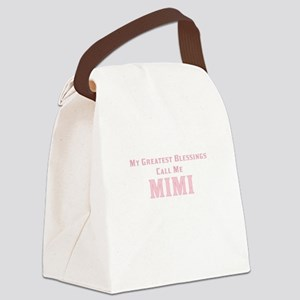 My Greatest Blessings Call Me MIM Canvas Lunch Bag