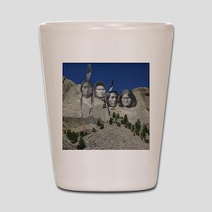 Native Mt. Rushmore Shot Glass