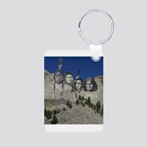 Native Mt. Rushmore Aluminum Photo Keychain