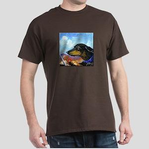 Desert Driving Dachshund Dark T-Shirt