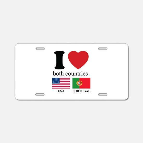 USA-PORTUGAL Aluminum License Plate