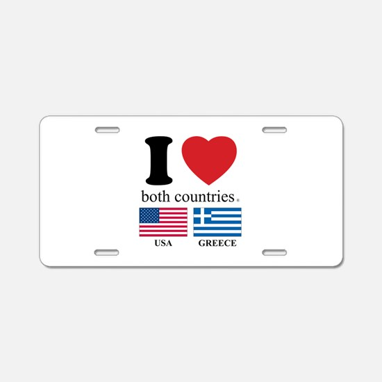 USA-GREECE Aluminum License Plate
