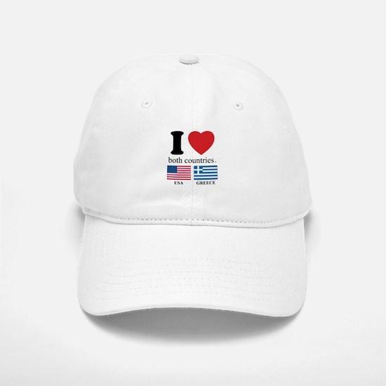 USA-GREECE Baseball Baseball Cap