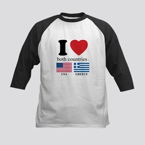 USA-GREECE Kids Baseball Jersey