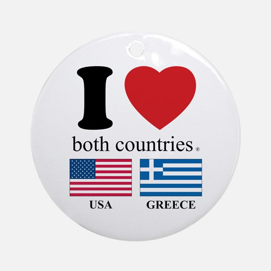 USA-GREECE Ornament (Round)