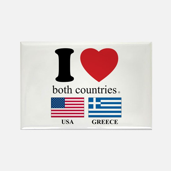 USA-GREECE Rectangle Magnet