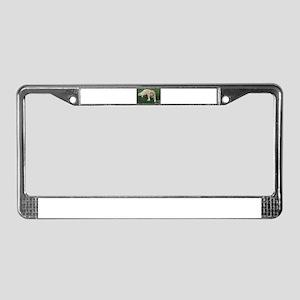 Nala young golden retriever wi License Plate Frame