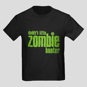 Daddy's Little Zombie Hunter Kids Dark T-Shirt
