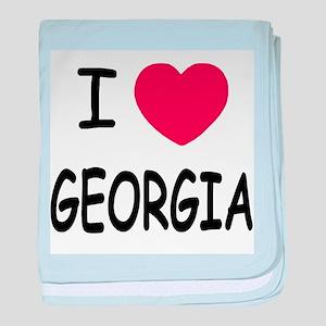 I heart Georgia baby blanket
