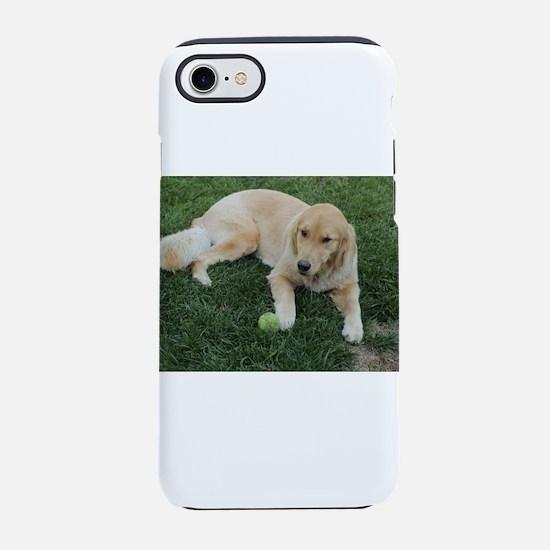 Nala young golden retriever wi iPhone 7 Tough Case