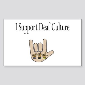 I support Deaf culture Sticker (Rectangle)