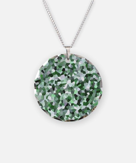 Green Mosaic Pattern Necklace