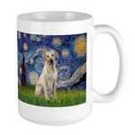 Starry - Yellow Lab 7 Large Mug