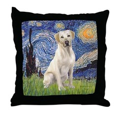 Starry - Yellow Lab 7 Throw Pillow