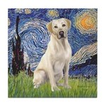 Starry - Yellow Lab 7 Tile Coaster