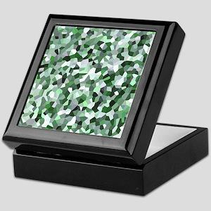 Green Mosaic Pattern Keepsake Box