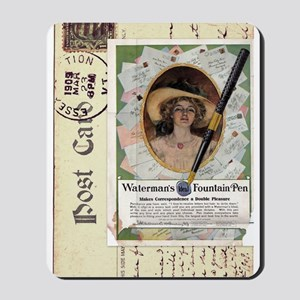 1909 Waterman's Pen Ad Mousepad