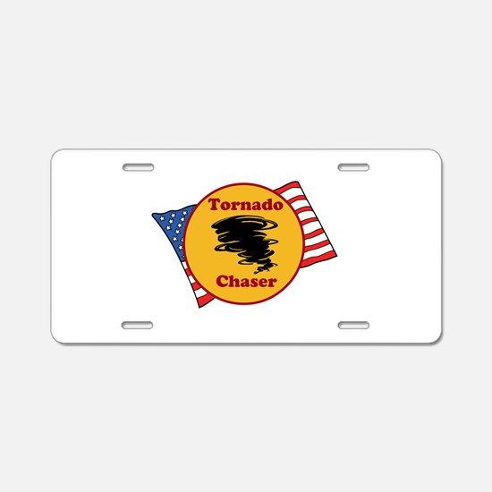 Tornado Chaser Aluminum License Plate