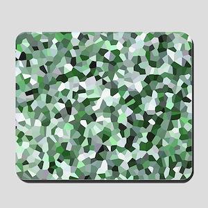 Green Mosaic Pattern Mousepad