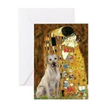 The Kiss-Yellow Lab Greeting Card