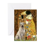 The Kiss-Yellow Lab Greeting Cards (Pk of 20)