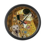 The Kiss-Yellow Lab Large Wall Clock
