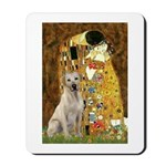 The Kiss-Yellow Lab Mousepad